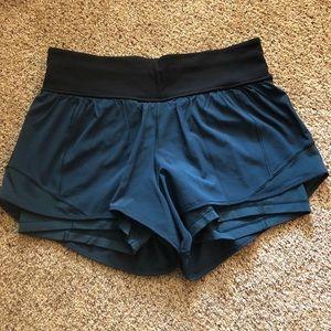 Dark teal shorts